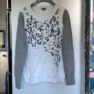Grey Sequins Leopard 🐆 Print Sweater